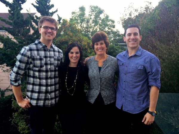 My family. Here are T, me, my mom, and my brother at Thanksgiving last year.