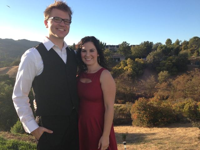 T and me at his brother's wedding.