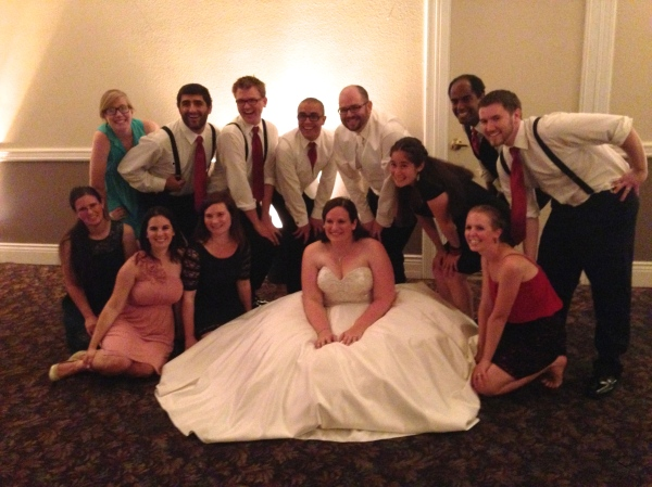 My friends. Here's our group at the wedding of one of the couples.
