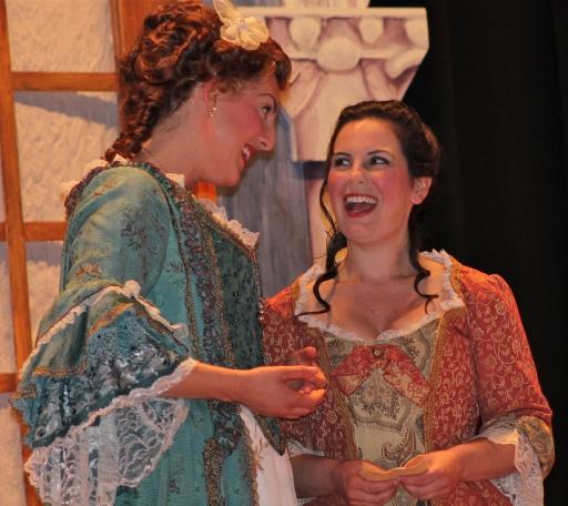 Susanna in Le nozze di Figaro, plotting with my Countess.