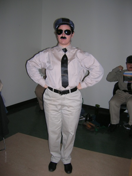 A chorus solider in Xerxes… I make a terrible man. Also, singing in a fake mustache is HARD.
