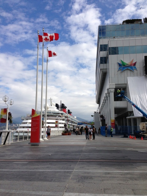 The entrance to Canada Place from the downtown side.