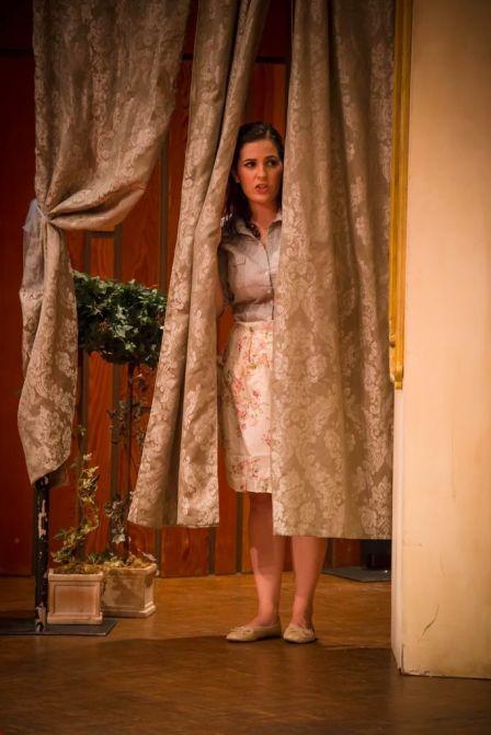 Susanna in a different production of Le nozze di Figaro.
