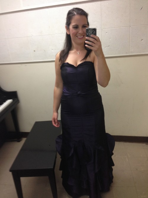 The gown for last night's concert. I love it, but somehow it was a little smaller when I first bought it...
