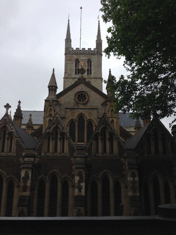 The exterior of Southwark Cathedral.
