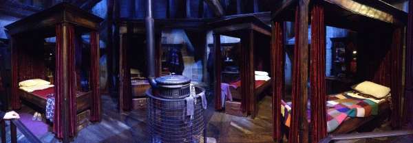 The Gryffindor boys' dormitory.