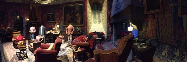 The Gryffindor common room. Can't you just imagine hanging out and doing homework in here?