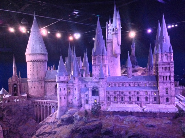 The huge, magnificent model of Hogwarts that was used for all of the aerial shots in the movies.