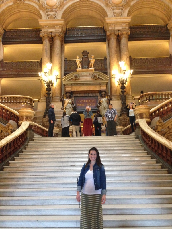 The grand staircase. Glad I at least wore a long skirt so I could pretend it was a gown!