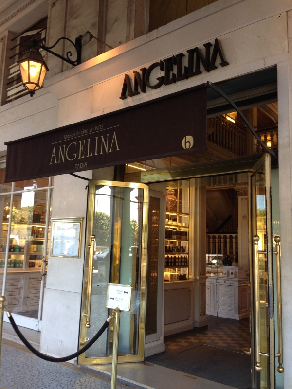 The entrance to Angelina.