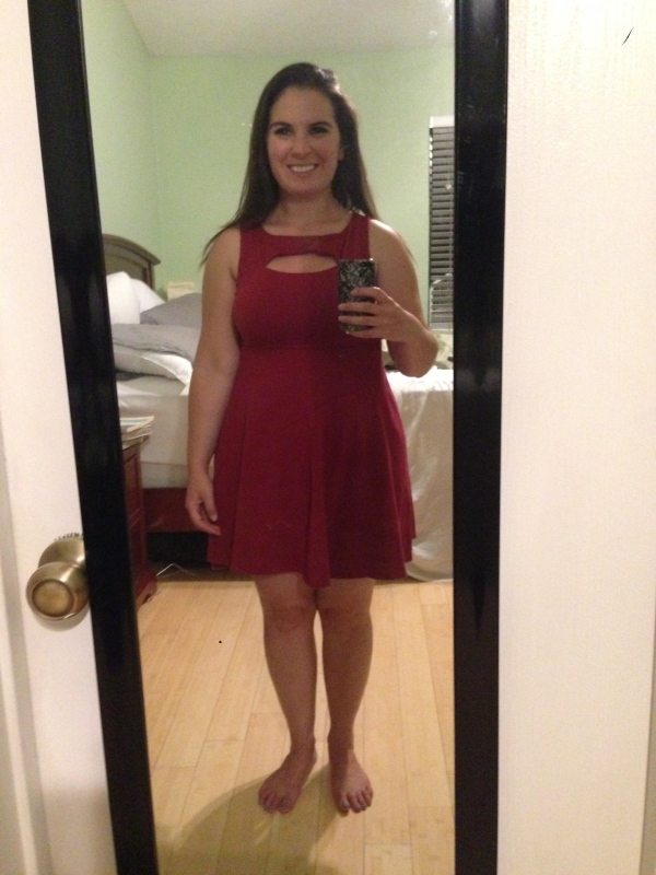 Day 6: red cutout dress from Target. One of my proudest purchases ever, as it was $12 on clearance!
