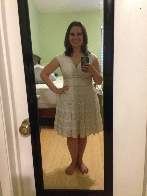 Day 15: cream lace dress from MaxStudio. Another one of my all-time favorites!