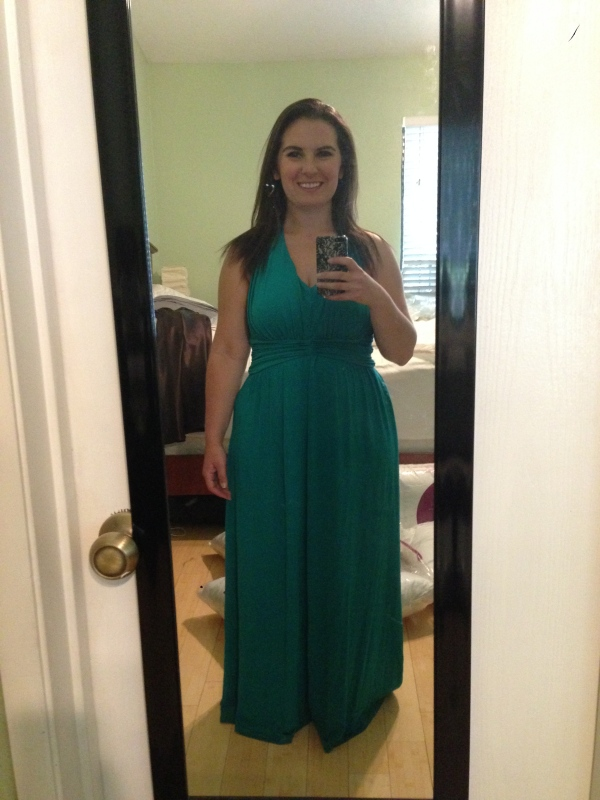 Day 3: teal maxi dress from Express. One of my favorites!