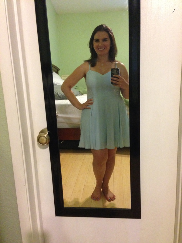 "Day 16: ""Lipinski"" dress (yes, that's really what it's called!) from Aritzia."