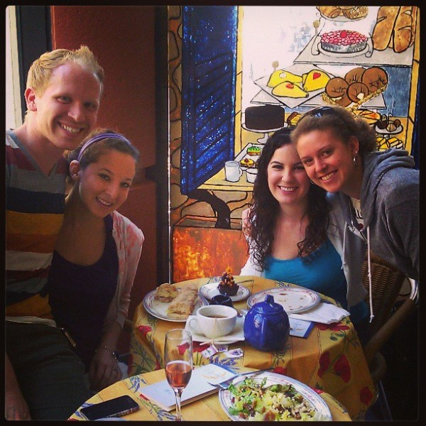 Me (second from right) and three friends on one of our frequent lunch dates at La Lune.