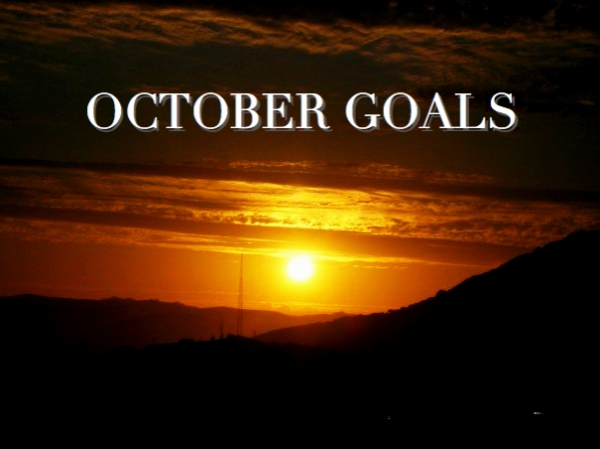 October Goals photo