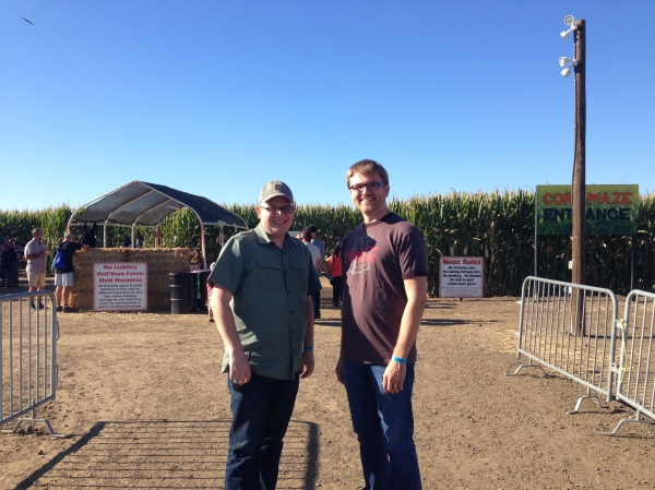 Our friend M and T, getting ready to venture into the maze.