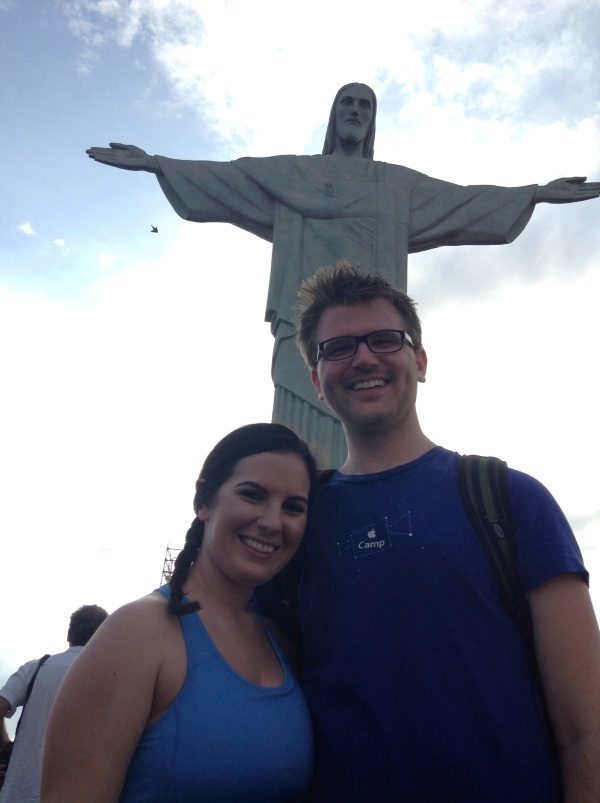 T and me with Christ the Redeemer in Rio.