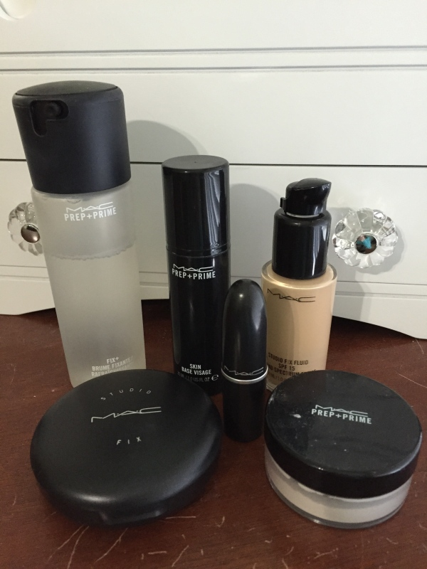 MAC products currently in my makeup arsenal.